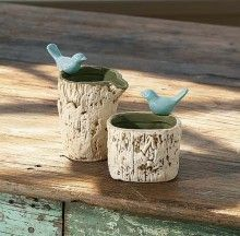 Nature Song Tableware - Condiment Bowl in Faux Bois - Natural Color
