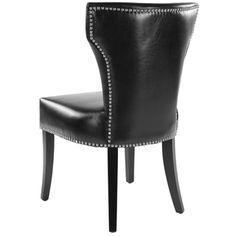Safavieh Matty Black Leather Nailhead Dining Chairs (Set of 2) - Overstock™ Shopping - Great Deals on Safavieh Dining Chairs