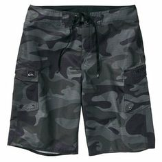a1e22476ef Quiksilver Manic Camo Boardshort - Gray Mens Boardshorts, Surf Outfit,  Snowboards, Billabong,