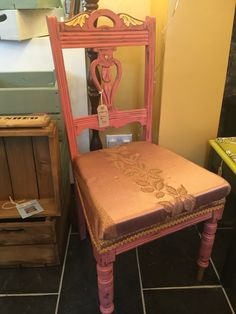 """Angel wings"" pink and gold chair"