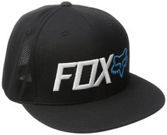 New Fox Racing Men's Premium Sport Snapback Trucker Adjustable Hat Cap Black • $25.37 - PicClick