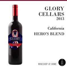 The mature Glory Cellars 2013 Hero's Blend is a Californian red blend of 55% Cabernet Sauvignon and 45% Malbec with lots of jammy red fruit characters in the nose. The barrel aging reveals toasted oak notes of cigar box, cedar, tobacco and pepper. A round and soft finish gives way to some light vanilla flavors. https://multibra.in/b9b94