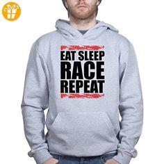 Eat Sleep Race Repeat Racing Moto GP Rally TT Race Le Mans Kapuzenpullover (*Partner-Link)