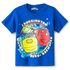 Chuggington Train Toddler Boys Graphic Birthday SS Tee Shirt 2t 3t 4t  Blue NWT  #ChildrensApparel #BirthdayEveryday