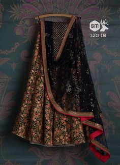 stunning Brown Tappeta Silk Bollywood Look Embroidery Work Circular Lehenga Choli lengha:-tappeta Silk With Heavy Emroidery choli:- Tapeta Heavy Work dupatta:- Net (*all Images Are Only For Reference Purpose, Design Or Color May Vary) Dress Indian Style, Indian Fashion Dresses, Indian Designer Outfits, Indian Designers, Ethnic Fashion, Pakistani Dresses, Designer Dresses, Lehnga Dress, Lehenga Choli