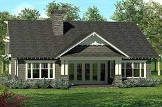 Smaller Home Plan with Volume - 17675LV thumb - 03