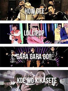 How Gee/Lollipop/Gara Gara Go!!/Koe Wo Kikasete
