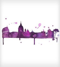 A Perfect Evening in Rome Watercolor Print by Jessica Durrant on Scoutmob Shoppe