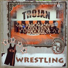 My middle sons wrestling team page