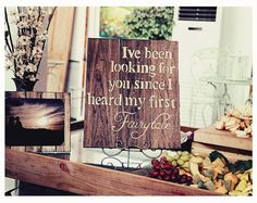 Hand painted wood Fairytale quote sign by VintageCreekStudio