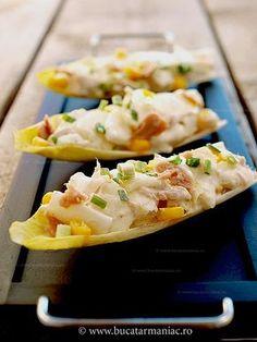 bucatar maniac: Salata de andive cu ton Living A Healthy Life, Sushi, Mexican, Vegetarian, Ethnic Recipes, Blog, Personal Care, Personal Hygiene, Sushi Rolls