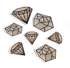 Temporary Tattoo Set  Diamonds and Coal by JollyGoodStudio on Etsy