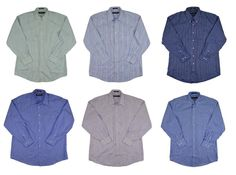 Kirkland Signature Men 80/2 Dress Shirt Non Iron Multiple Styles Striped #KirklandSignature #DressShirt