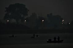 Nocne połowy na Martwej Wiśle w Sobieszewie