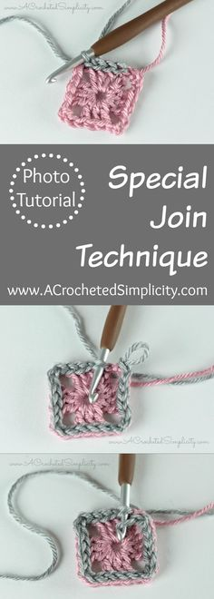 Crochet Tutorial: Special Join Technique by A Crocheted Simplicity