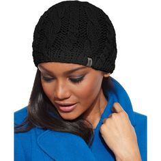The North Face Hat, Cable-Knit Beanie ($38) ❤ liked on Polyvore