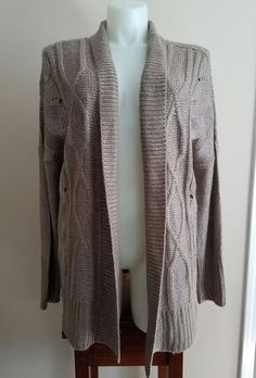 Apt 9 Size XL Muted Brown w Silver Threads Cover Sweater NWT Retail $60 #Apt9 #Cardigan
