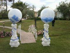Composizione BIG balloon con palloncini elio per matrimonio