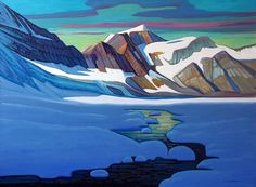 Glacial Tributary-King Mountain, inches, oil on canvas, by Nicholas Bott, Canadian Canadian Painters, Canadian Artists, Landscape Art, Landscape Paintings, Oil Paintings, Acrylic Paintings, Landscapes, Painting Inspiration, Art Inspo