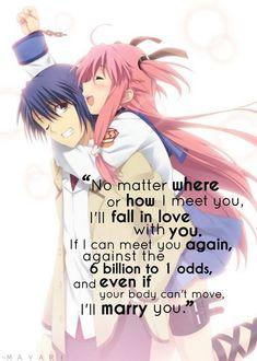 I want them to meet again Anime: Angel Beats
