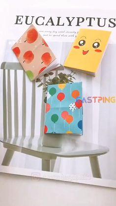 Cool Paper Crafts, Paper Crafts Origami, Origami Easy, Book Crafts, Diy Crafts For Teens, Diy Crafts To Do, Creative Crafts, Craft Ideas, Agendas Diy