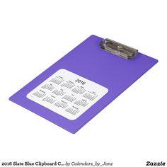 2016 Slate Blue Clipboard Calendar by Janz