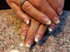 Wedding nails with Gelish.