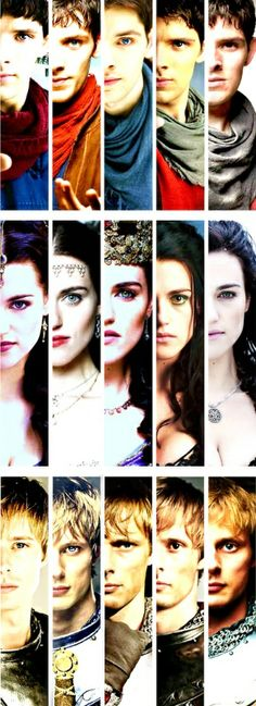 Merlin, Morgana and Arthur through the seasons...