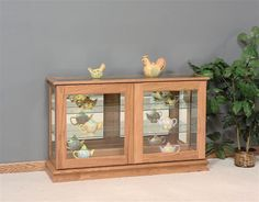 1000 Images About Amish Curio Cabinets On Pinterest