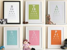 Try my online free eye chart maker. Generate beautiful high-resolution pdf eyecharts to download and print. Use it to create your own quirky posters, cards, or DIY artwork.