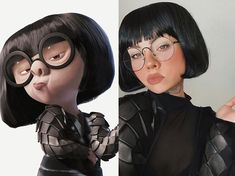 Edna Mode cosplay by Mode Halloween, Looks Halloween, Halloween Inspo, Cute Halloween Costumes, Halloween Cosplay, Cool Costumes, Google Halloween, Halloween Makeup, Cute Cosplay