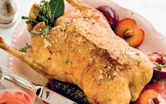 Perfect roast duck with muscadel plums Roast Duck, Recipe Search, Baking Recipes, Delicious Desserts, Plum, Turkey, Dinner, Cooking, Food