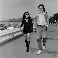 Auguste Traverso (Traverso Family Archives) - John Lennon & Yoko Ono (Cannes Festival Series) | From a unique collection of photography at http://www.1stdibs.com/art/photography/