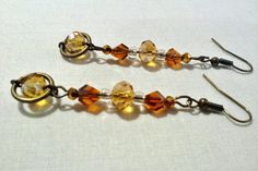 Antique Gold Wire and Golden Glass Beads by 7moons7suns on Etsy $12.00 this and more at: https://www.etsy.com/shop/7moons7suns?ref=hdr_shop