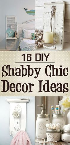 Vintage Decor Diy Here you will find 16 different DIY shabby chic decor ideas that will make your home look amazing! - Here you will find 16 different DIY shabby chic decor ideas that will make your home look amazing! Shabby Chic Mode, Shabby Chic Vintage, Shabby Chic Theme, Estilo Shabby Chic, Shabby Chic Living Room, Shabby Chic Interiors, Shabby Chic Bedrooms, Shabby Chic Furniture, Bedroom Furniture