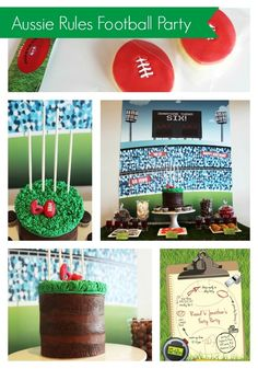 Aussie Rules Football (AFL) Birthday Party - www.spaceshipsandlaserbeams.com