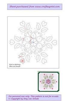 ED003 Flower Mandala on Craftsuprint designed by Emy van Schaik - Stitching with beads - Now available for download!: