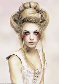 This would be good for our Disney princess zombie theme because the hair has a zombie vibe but still has. A classic style.