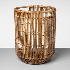 X Decorative Rattan Cane Basket Brown - Project : Target Tall Basket, Rattan Basket, Rattan Planters, Bamboo Basket, Entryway Light Fixtures, Exterior Door Colors, Cane Baskets, Artisan Works, Diy Pallet Furniture