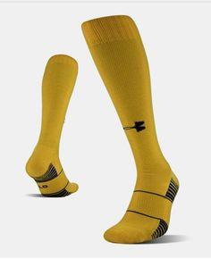9a1fbccf0 Under Armour OTC Team Soccer Socks Steeltown Gold SZ M or L 1270244-750 #