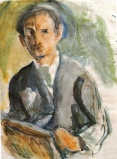 'Self Portrait', 1926 by George Bouzianis Greece) Contemporary Modern Art, Painter, Portraiture, Self Portrait, Art Database, Painting, Greek Art, Artwork, Contemporary Art