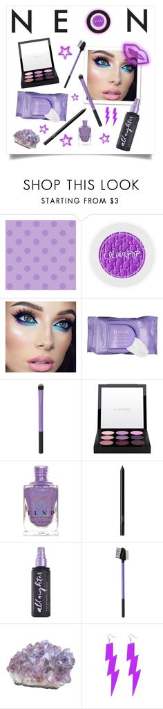 """Purple Neon"" by tomlin945 ❤ liked on Polyvore featuring beauty, York Wallcoverings, Clinique, MAC Cosmetics, NARS Cosmetics and Urban Decay"