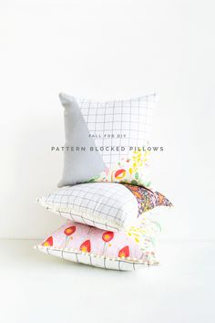 Pattern Blocked Pillow tutorial | Fall For DIY