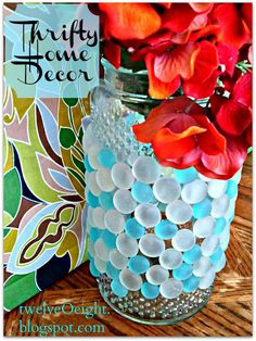 twelveOeight: DIY Home Decor On A Budget: Chic Glass Vase