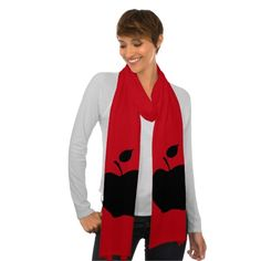 Black Apple Scarf Wrap  Click on photo to purchase. Check out all current coupon offers and save! http://www.zazzle.com/coupons?rf=238785193994622463&tc=pin