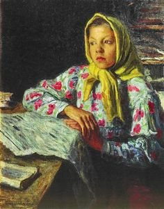 Portrait of a Girl - Nikolay Bogdanov-Belsky