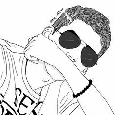 Grunge Boy Drawing