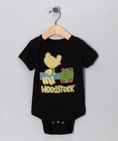 Take a look at this Black 'Woodstock' Bird Bodysuit - Infant by Rock Band: Tees & Bodysuits on #zulily today!