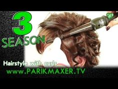 Hairstyle with curls. parikmaxer tv tv hairdresser