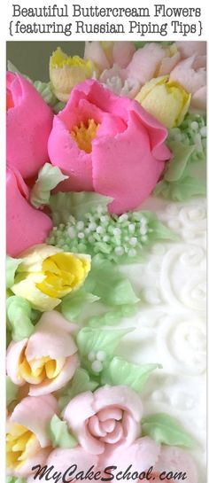 In today's cake decorating tutorial, I'm going to demonstrate how to use Russian Piping Tips to create beautiful buttercream flowers. These popular Russian tips are perfect because they allow…MoreMore Russian Decorating Tips, Creative Cake Decorating, Cake Decorating Techniques, Cake Decorating Tutorials, Creative Cakes, Cookie Decorating, Decorating Cakes, Russian Icing Tips, Russian Cakes